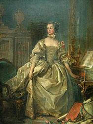 ルーヴル美術館に飾られている「ポンパドゥール公爵夫人(フランソワ・ブーシェ)